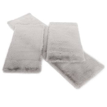 Spálňové koberce, set 3 ks, luxusné shaggy, sivá, KAMALA LUX TYP 1