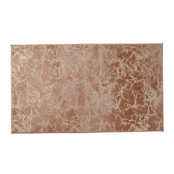 Moderný koberec, béžová/zlatý vzor, 80x150, RAKEL