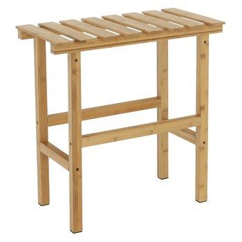 Príručný stolík k vírivke v tvare obdĺžnika, prírodný bambus, VIREO TYP 2
