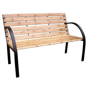 Záhradná lavička, čierna/prírodná, LACEA