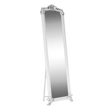 Stojanové zrkadlo, biela/strieborná, ODINE