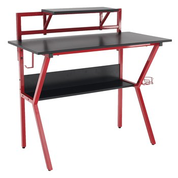 PC stôl/herný stôl, červená/čierna, TABER