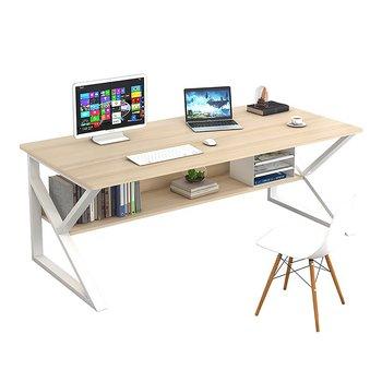 Písací stôl s policou, dub prírodný/biela, TARCAL 100