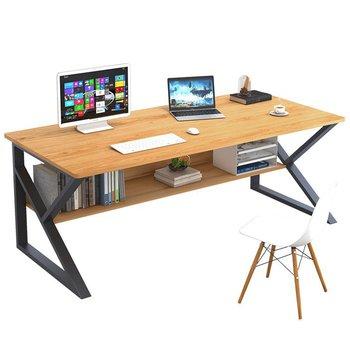 Písací stôl s policou, buk/čierna, TARCAL 100