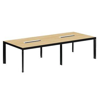 Rokovací stôl, buk/čierna, DALY