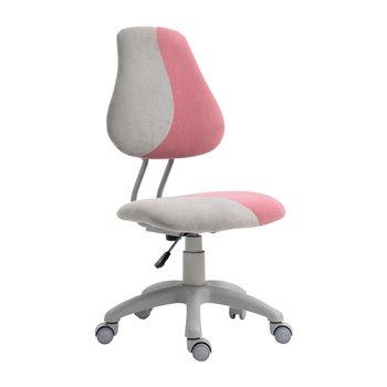 Rastúca otočná stolička, sivá/ružová, RAIDON