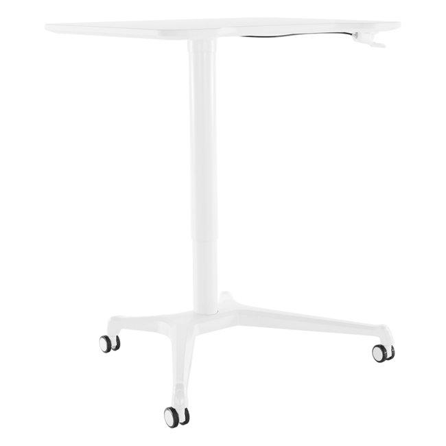 Pracovný stôl s nastaviteľnou výškou, biela, NIXON