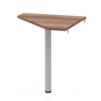 Rohový stolík, slivka/kov, JOHAN 2 NEW 06
