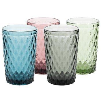 Farebné retro poháre na vodu, 4ks, 350ml, VERITAS TYP 1