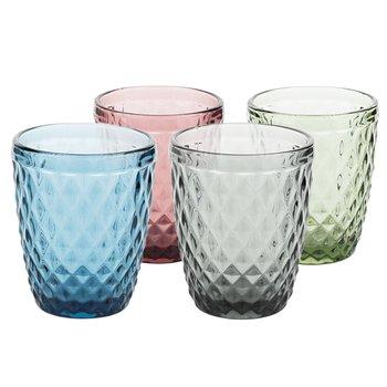 Farebné retro poháre na vodu, 4ks, 240ml, VERITAS TYP 2