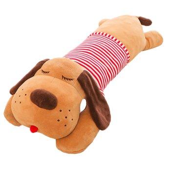 Plyšový psík, hnedá/červený pásik, 140cm, REXO typ 3