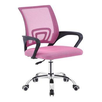 Kancelárska stolička, ružová/čierna, DEX 3 NEW