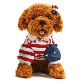 Plyšový psík, hnedá, 50cm, AZORA
