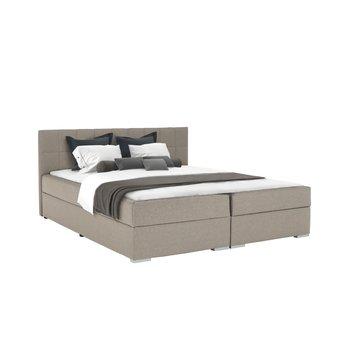 Boxspringová posteľ 180x200, sivohnedá TAUPE, FERATA TV KOMFORT