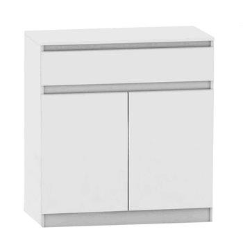 2 dverová komoda s jedným šuplíkom, biela, HANY NEW 007