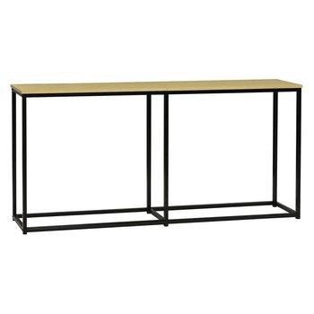 Konzolový stolík v industriálnom štýle, dub/čierna, BUSTA