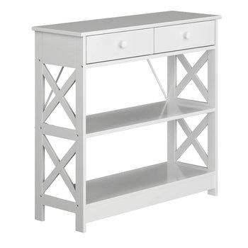 Konzolový stolík, biela, LOMIR