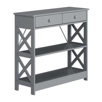 Konzolový stolík, sivá, LOMIR