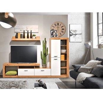 Obývacia stena, dub wotan/biela, FIJI