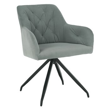 Otočná stolička, sivá Velvet látka/čierna, VELEZA