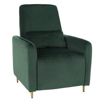 Relaxačné polohovacie kreslo, smaragdová Velvet látka, NAURO