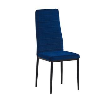 Stolička, modrá Velvet látka/čierny kov, COLETA NOVA