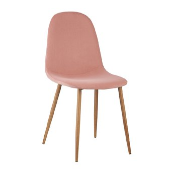 Stolička, ružová Velvet látka/buk, LEGA