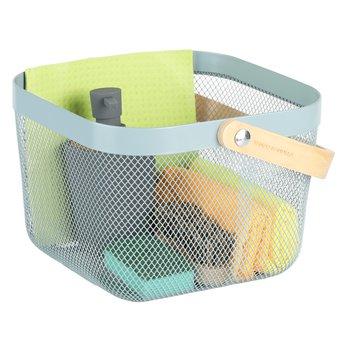 Kovový košík s rúčkou, modrá, KITEN TYP 4