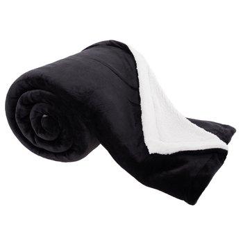 Obojstranná baránková deka, sivá/biela, 200x230cm, ESSENA
