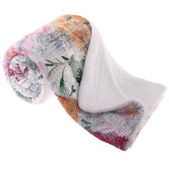 Obojstranná baránková deka, smotanová/vzor, 150x200cm, REBELA