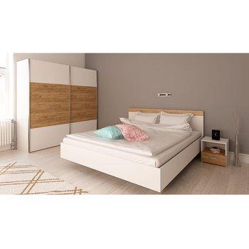 Spálňový komplet (posteľ 160x200 cm), biela/dub artisan, GABRIELA