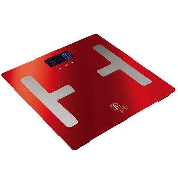 Osobná váha, metalická červená Burgundy, BERLINGERHAUS BH-9104