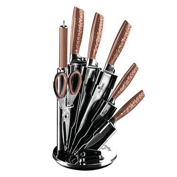 8-dielna sada nožov v stojane, metalická Rose Gold, BERLINGERHAUS BH-2462