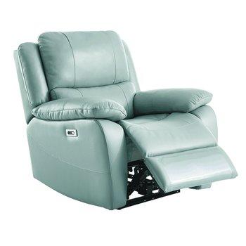 Elektrické relaxačné kreslo, koža/ekokoža neomint, VIVAN