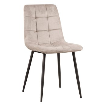Jedálenská stolička, Velvet látka sivohnedá taupe, KELSA