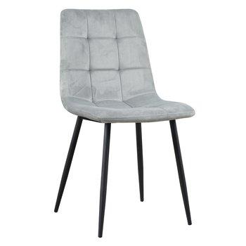 Jedálenská stolička, Velvet látka sivá, KELSA