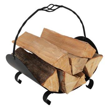 Kôš na drevo, čierna, kované železo, ZENOL
