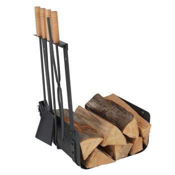Krbové náradie, kované železo/drevo, čierna/prírodná, RALFO