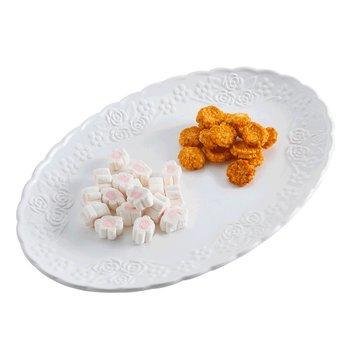 Servírovací tanier, biela, keramika, ALINO TYP 2