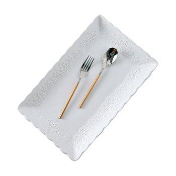 Servírovací tanier, biela, keramika, MODAF TYP 2