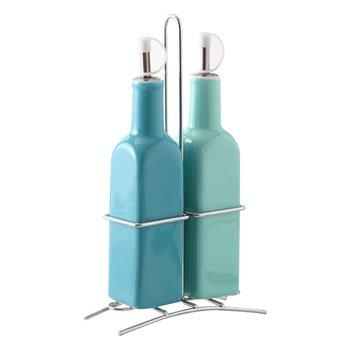 Dávkovače na ocot a olej, set  2 ks, zelená/modrá, FILAP