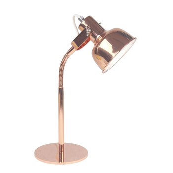 Stolná lampa v retro štýle, kov, rose gold, AVIER TYP 1