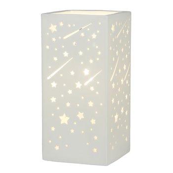 Stolná lampa, biela/vzor hviezdy, BELLE TYP 1