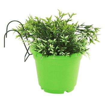 Závesný kvetináč, plast, zelená, DIGAL
