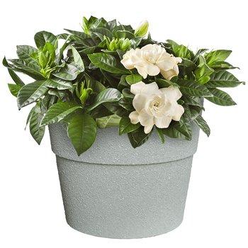 Kvetináč, plastový s kameninovým práškom, betón, AUSON TYP 2