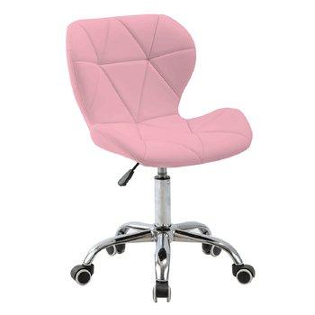 Kancelárske kreslo, ružová/chróm, ARGUS