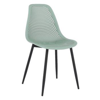 Jedálenská stolička, zelená/čierna, TEGRA TYP 2