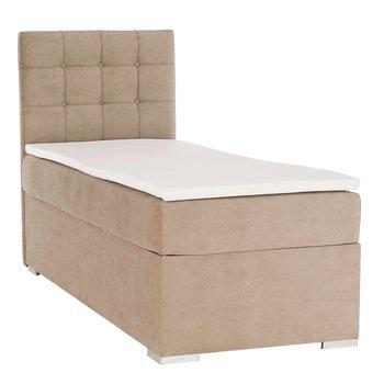 Boxspringová posteľ, jednolôžko, svetlohnedá, 90x200, ľavá, DANY