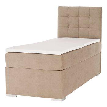 Boxspringová posteľ, jednolôžko, svetlohnedá, 90x200, pravá, DANY
