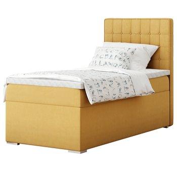 Boxspringová posteľ, jednolôžko, horčicová, 90x200, pravá, TERY